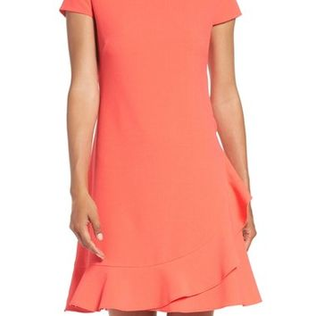 Eliza J Crepe A-Line Dress (Regular & Petite) | Nordstrom