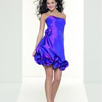 Beautiful Design Strapless Taffeta Handmade Short Party Dress ML9051