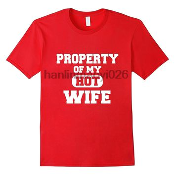 Property Of Hot Wife Red T-shirt