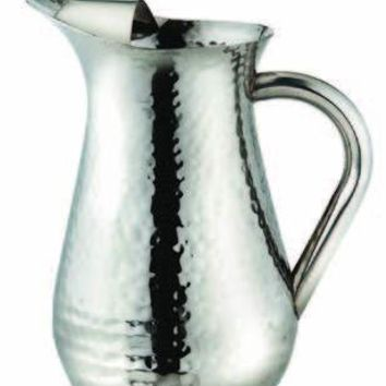 Elegence Stainless Steel Hammered Pitcher w/Ice Guard