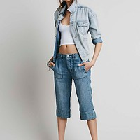 Free People Womens Relaxed Beach Crop