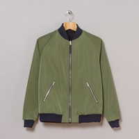 A Kind Of Guise Yasin Reversible Blouson (Dark Navy / Seaweed) | Oi Polloi