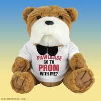 Funny Prom Plush Promposal Dog