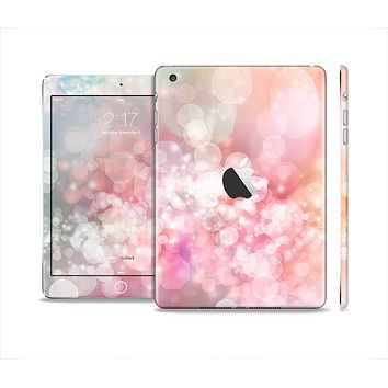 The Unfocused Pink Abstract Lights Full Body Skin Set for the Apple iPad Mini 2