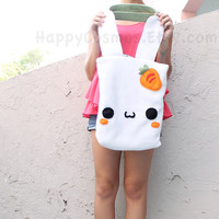 Bunny Tote Bag , Cute Tote , Kawaii Bag , School Backpack