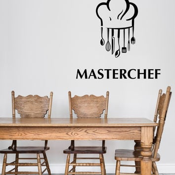 Wall Vinyl Decal Attributes Cap Instruments Master Chef Kitchen Decor Unique Gift z4767