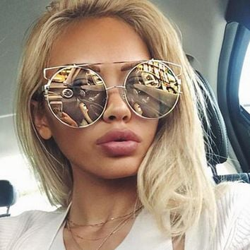 ROYAL GIRL NEWEST Women Double Wire Oversized Sun glasses Big Round Bohemian Vintage Sunglasses ss180