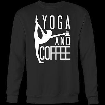 Yoga - Yoga And Coffee - Unisex Sweatshirt T Shirt - TL00891SW