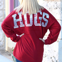 Hogs Helsinki Print Arkansas Jersey {Deep Red}