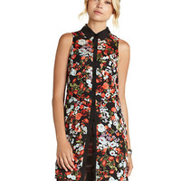 Bcbgeneration Floral Print Sleeveless Dress