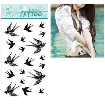 Tattoo Sticker 1pcs The Swallow Bird Flash  Waterproof Temporary