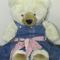 TEDDY Bear beautiful soft 17 in., All Occasion, Beige, Plush