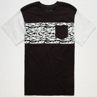 Vans Star Wars Camo Stormtrooper Mens Pocket Tee Black/White  In Sizes