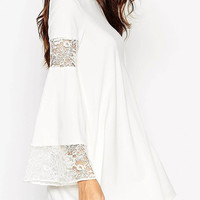 White Boho Swing Dress