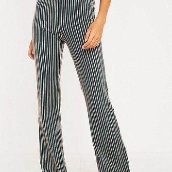UO Vertical Stripe Flare Trousers | Urban Outfitters