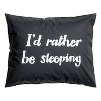 H&M - Pillowcase - Black