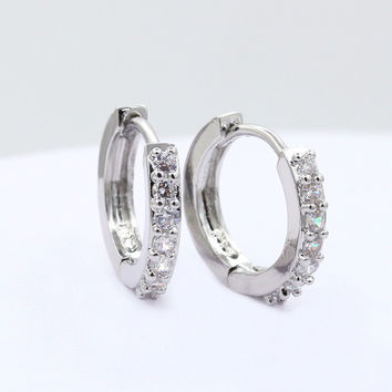 Earring Stylish Crystal Korean Ear Studs Fashion Earrings = 4806937732