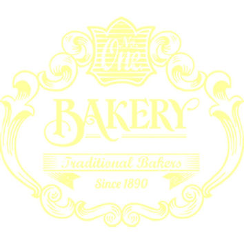 Vintage Bakery Sign (Yellow) Plastisol Heat Transfer