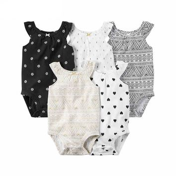Mixed Patterns Baby Rompers
