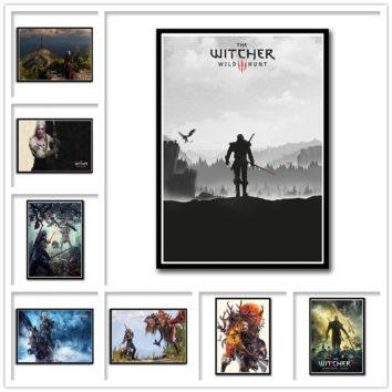The Witcher Enhanced Edition Game Poster Home Furnishing decoration coated paper Poster Drawing core Wall stickers 42*30cm
