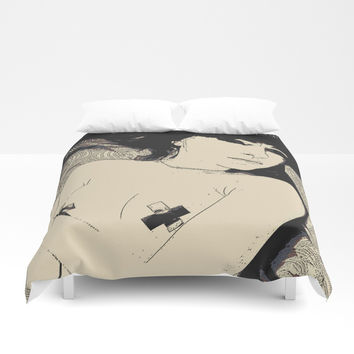 Submission in black Duvet Cover by Casemiro Arts - Peter Reiss