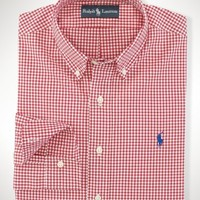 Custom-Fit Gingham Sport Shirt