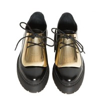 Jeffrey Campbell Gold Meade Brogue