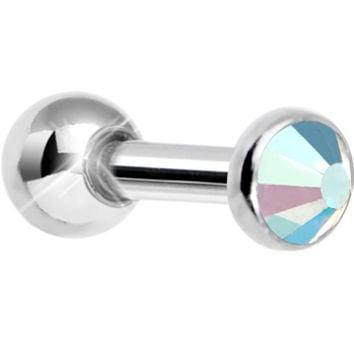 3mm Aurora Gem Tragus Cartilage Barbell Earring | Body Candy Body Jewelry