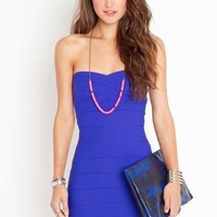 Sweetly Bound Dress in Electric Blue