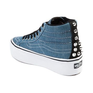 Vans SK8 Hi Platform Shoe, Denim | Journeys Shoes