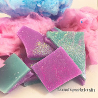 Cotton Candy Wax Melts Wax Brittle Handmade Soy Vegan Highly Scented Wax Tarts