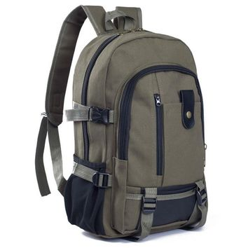 Men Thickening Canvas Backpack School Bag Rucksack Travel Bags Fashion Big Capacity Shoulder Bag