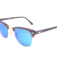 Ray-Ban RB 3016 Clubmaster 1145/17 Sand Havana / Gold Sunglasses