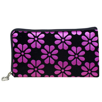 Amazing Womens Flower Printing Coins Change Purse Corduroy Clutch Zipper chain Wallet Women  Phone Key Bags