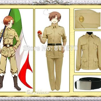 DCCKL3Z Axis Powers Hetalia APH Cosplay South Italy Unisex Military Uniform Sailor Suits Evening Dress