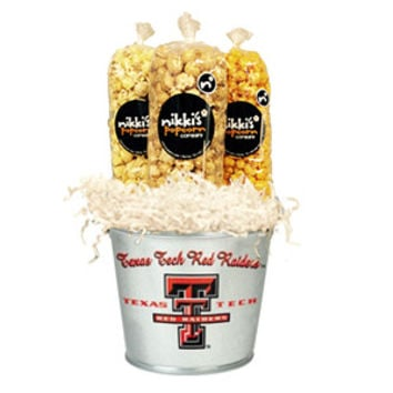 Texas Tech Popcorn Tin Pail