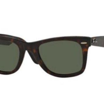 Kalete RAY-BAN ORIGINAL WAYFARER | 50MM | DISTRESSED TORTOISE / G-15 LENS RB2140 1185