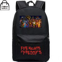 New Five Nights At Freddy's Backpack Freddy Chica Foxy FNAF School Shoulder Bag travel teen adult pc gamer
