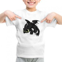 Chibi Toothless How to Train Your Dragon fantasy graphic printed youth toddler tshirt
