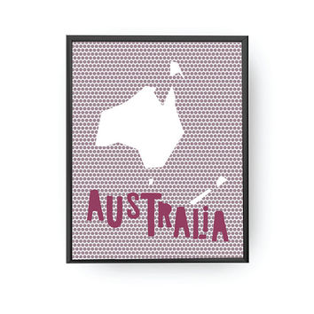 Australia Dots Print, Classroom Art, Nursery Art, Typography Poster, Kids Print, Nursery Decor, Educational Print, Nursery Poster, Map Print