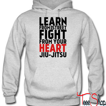LEARN from the street FIGHT Jiu Jitsu (red) hoodie