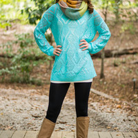 Bright Eyes Sweater, Aqua