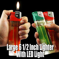 Giant 6 1/2 inch Disposable Lighter with Bright LED Light