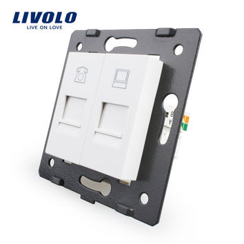 Manufacture Livolo Wall Socket Accessory The Base of Telephone and Computer Socket Outlet VL-C7-1TC-11