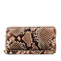 MICHAEL Michael Kors Jet Set Travel Snake-Embossed Large Coin Multifunction Wallet | Dillards