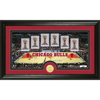 Chicago Bulls inTraditionsin Bronze Coin Panoramic Photo Mint