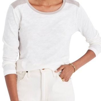 Madewell Whisper Cotton Colorblock Tee | Nordstrom