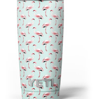 The All Over Mint Flamingo Pattern Yeti Rambler Skin Kit