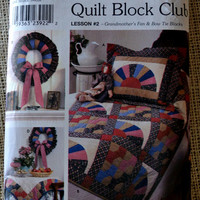 Uncut Simplicity 9234 quilt block lesson #2 // Quilt Block Club, Lesson #2- Grandmother's Fan and Bow tie blocks