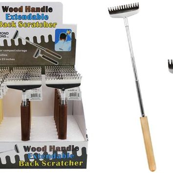 Wood Handle Extendable Back Scratcher Case Pack 24